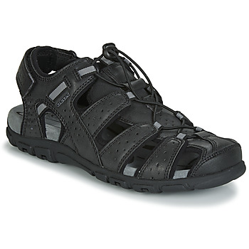 Schoenen Heren Sandalen / Open schoenen Geox UOMO SANDAL STRADA Zwart