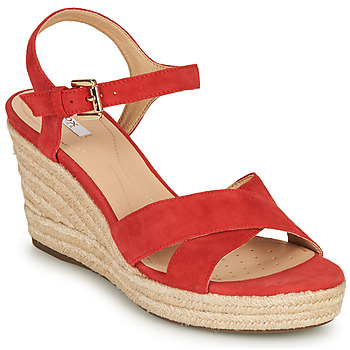 Schoenen Dames Sandalen / Open schoenen Geox D SOLEIL Rood / Corail