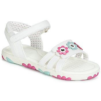 Schoenen Meisjes Sandalen / Open schoenen Geox J SANDAL HAITI GIRL Wit