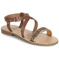 Schoenen Meisjes Sandalen / Open schoenen Geox J SANDAL VIOLETTE GI Brown