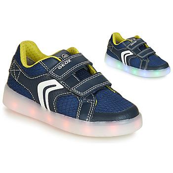 Schoenen Jongens Lage sneakers Geox J KOMMODOR BOY Blauw / Led