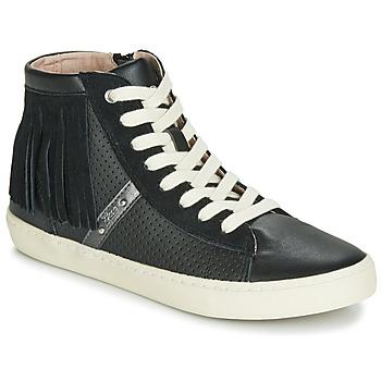 Schoenen Meisjes Hoge sneakers Geox J KILWI GIRL Zwart