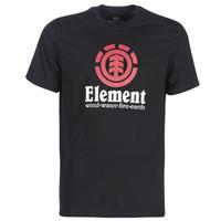 Textiel Heren T-shirts korte mouwen Element VERTICAL SS Zwart