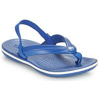 Schoenen Kinderen Slippers Crocs CROCBAND STRAP FLIP K Blauw