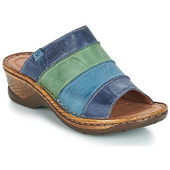 Schoenen Dames Leren slippers Josef Seibel CATALONIA 64 Blauw