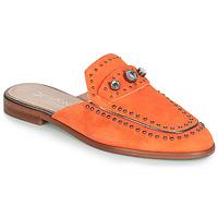 Schoenen Dames Leren slippers Dorking 7783 Orange