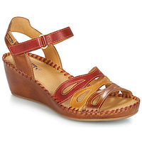 Schoenen Dames Sandalen / Open schoenen Pikolinos MARGARITA 943 Rood / Brown