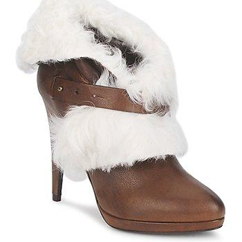 Schoenen Dames Enkellaarzen Roberto Cavalli QPS586-PJ027 Brown / Wit