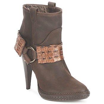 Schoenen Dames Enkellaarzen Roberto Cavalli QPS577-PK206 Brown
