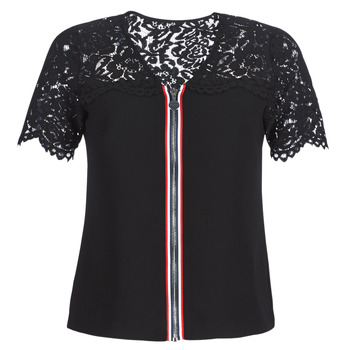 Textiel Dames Tops / Blousjes Morgan OSALI Zwart