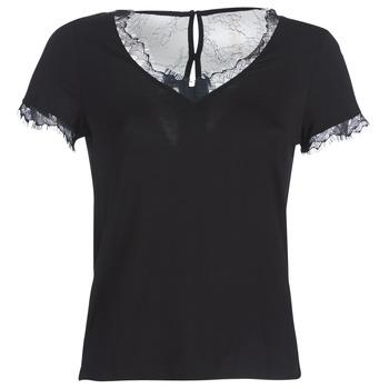 Textiel Dames T-shirts korte mouwen Morgan DMINOL Zwart
