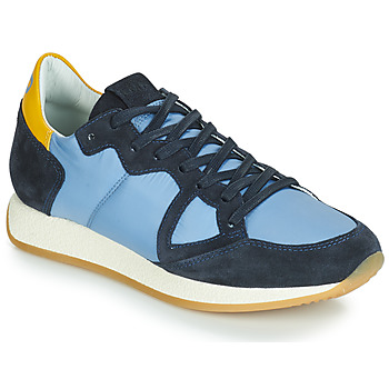Schoenen Dames Lage sneakers Philippe Model MONACO VINTAGE BASIC Blauw / Geel