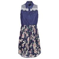 Textiel Dames Korte jurken Desigual ALOHA Marine