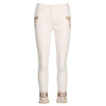 Textiel Dames Straight jeans Desigual SARI WHITE Marine