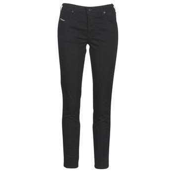 Textiel Dames Skinny jeans Diesel BABHILA Zwart / 069ei