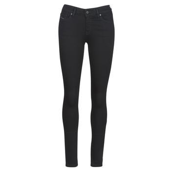 Textiel Dames Skinny jeans Diesel SLANDY Zwart