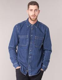 Textiel Heren Overhemden lange mouwen Diesel D FRED Blauw