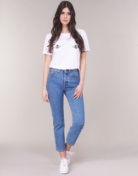 Textiel Dames Straight jeans Levi's 501 CROP Lost / Cause