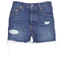 Textiel Dames Korte broeken / Bermuda's Levi's 502 HIGH RISE SHORT Blauw / Medium