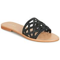 Schoenen Dames Leren slippers Jonak WEB Zwart