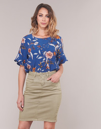 Textiel Dames Tops / Blousjes Cream ALLY Blauw