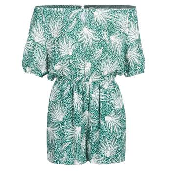 Textiel Dames Jumpsuites / Tuinbroeken See U Soon GARAGABE Groen / Wit