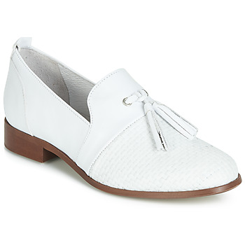 Schoenen Dames Derby Regard REVA V1 TRES NAPPA BLANC Wit
