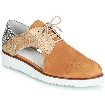 Schoenen Dames Derby Regard RIXULO V3 VEL CAMEL Brown