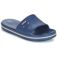 Schoenen Slippers Crocs CROCBAND III SLIDE Marine / Wit