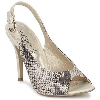Schoenen Dames Sandalen / Open schoenen StylistClick RUTH Beige / Groen