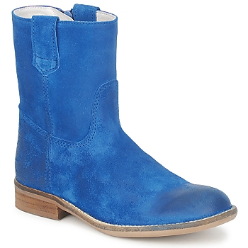 Schoenen Meisjes Laarzen Hip DIRAN Blauw