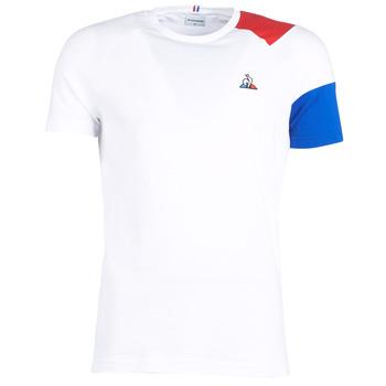 Textiel Heren T-shirts korte mouwen Le Coq Sportif ESS Tee SS N°10 M Wit / Rood / Blauw