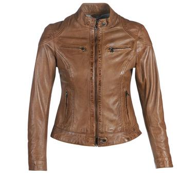 Textiel Dames Leren jas / kunstleren jas Oakwood LINA Cognac