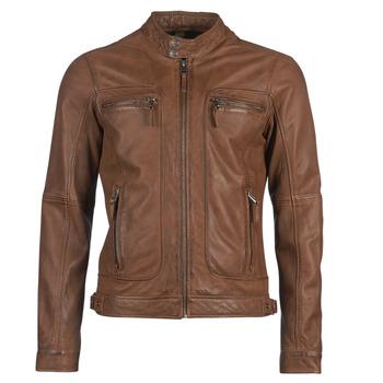 Textiel Heren Leren jas / kunstleren jas Oakwood CASEY Cognac