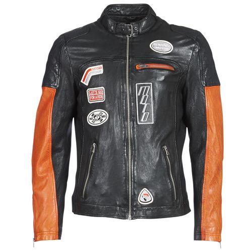 Textiel Heren Leren jas / kunstleren jas Oakwood INDIE Zwart / Orange