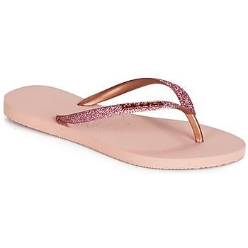 Schoenen Dames Slippers Havaianas SLIM GLITTER Roze