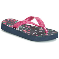 Schoenen Meisjes Slippers Havaianas KIDS FLORES Marine / Roze