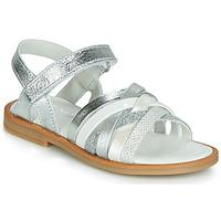 Schoenen Meisjes Sandalen / Open schoenen Citrouille et Compagnie JIRAFOU Zilver