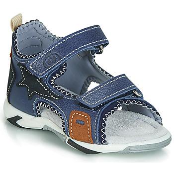 Schoenen Jongens Sandalen / Open schoenen Citrouille et Compagnie JATILEME Blauw / Clair