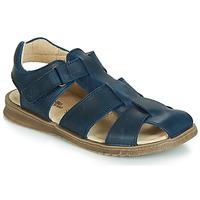 Schoenen Jongens Sandalen / Open schoenen Citrouille et Compagnie JALIDOU Blauw / Donker