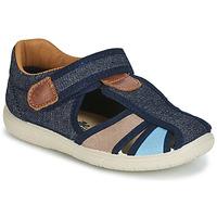 Schoenen Jongens Sandalen / Open schoenen Citrouille et Compagnie JOLIETTE Jean / Blauw / Beige