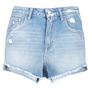 Textiel Dames Korte broeken / Bermuda's Replay PABLE Blauw / 010