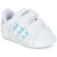 Schoenen Meisjes Lage sneakers adidas Originals SUPERSTAR CRIB Wit