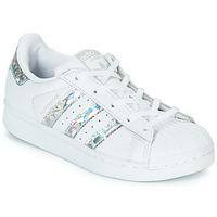 Schoenen Meisjes Lage sneakers adidas Originals SUPERSTAR C Wit / Zilver