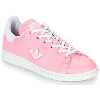 Schoenen Meisjes Lage sneakers adidas Originals STAN SMITH J Roze