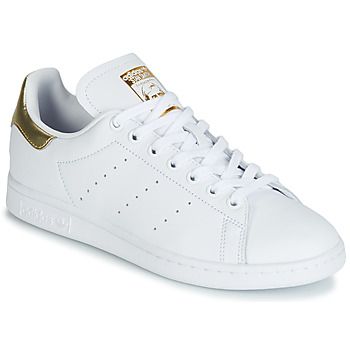 Schoenen Dames Lage sneakers adidas Originals STAN SMITH W Wit / Gold