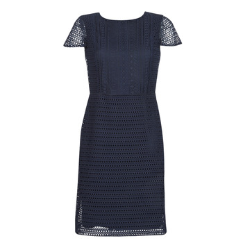 Textiel Dames Korte jurken Lauren Ralph Lauren NAVY SHORT SLEEVE DAY DRESS Marine