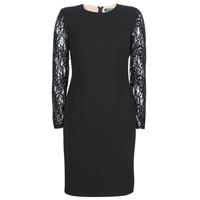 Textiel Dames Korte jurken Lauren Ralph Lauren LACE PANEL JERSEY DRESS Zwart
