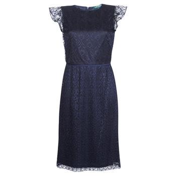 Textiel Dames Korte jurken Lauren Ralph Lauren LACE CAP SLEEVE DRESS Marine