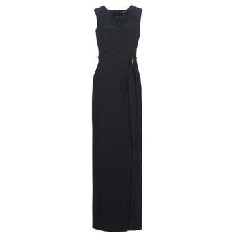 Textiel Dames Lange jurken Lauren Ralph Lauren CAP SLEEVE JERSEY EVENING DRESS Zwart